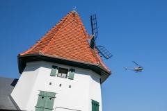 Hélicoptère et le Moulin d'Eschentzwiller